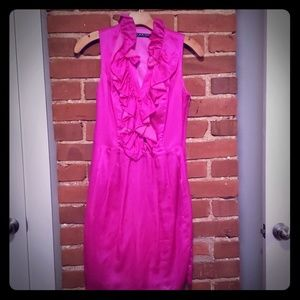 Andrew Marc Hot Pink Silk Dress